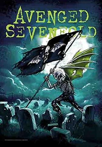 Avenged Sevenfold Cemetery officiel nouveau Noir Textile Flag Affiche 75cm x 110cm
