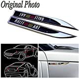 #8: Automaze Ralliart KNIFE Logo Sticker For Car | 3D Metal Sticker For Fender Skirting Decoration | Car Exterior Accessories