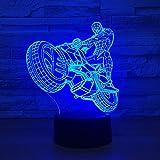 3D Spiderman Ironman Bande Dessinée Créative LED Veilleuse Décoration Lampe De...