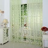AFfeco Chic, Typ Leaf Tüll Tür Fenster Vorhang grün