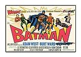 Batman 21966A3laminated Poster Vintage Movie Adam West Lee Meriwether Burt Ward Film Tableau coloré Photo Vieux rétro d'impression