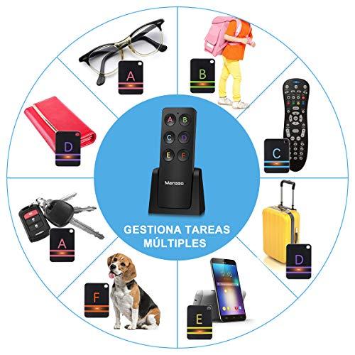 Bluetooth cerca-chiavi Key Finder Anti Lost allarme Mini leggero portatile portachiavi con portata fino a 30/meter in nero