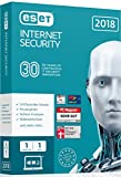 ESET Internet Security 2018 | 1 User | 1 Jahr Virenschutz | Windows (10, 8, 7 und Vista) | Download Bild