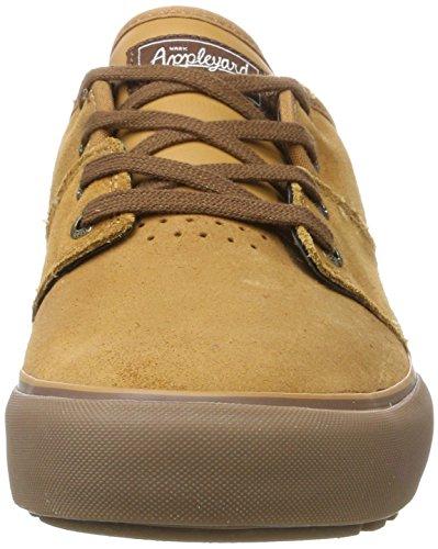 Globe Mahalo, Chaussures de Skateboard Homme Multicolore (Tan Fur)