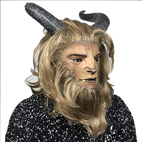 Die Schöne Und Das Biest Cosplay Biest Vollmaske Halloween Stage Latex Maske Kostüm Party Cooles Spiel (Hunde Haloween Kostüm)
