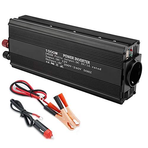 Inverter, reiner Sinuswelle Wechselrichter 12 V Konverter 220 V 1000 W Leistung, reine Sinuswelle, 1000 W Dauerleistung, Auto-Wechselrichter, Zielwechselrichter