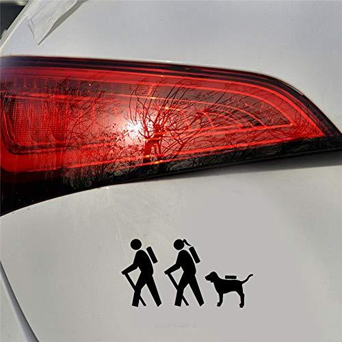 20,3X10,7 Cm Wanderer Paar Wandern Hund Auto Aufkleber Mode Kreative Auto Styling Zubehör Für Auto Laptop Fenster Aufkleber schwarz