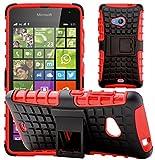 G-Shield Hülle für Microsoft Lumia 535 Stoßfest Schutzhülle mit Ständer - Rot