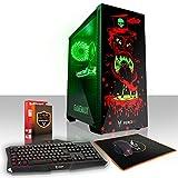 Fierce GOBBLER RGB Gaming PC Bundeln - Schnell 6 x 4.5GHz Hex-Core Intel Core i5 8600K, All-In-One Flüssigkühler, 1TB Seagate FireCuda Solid State Hybrid Drive, 8GB von 2666MHz DDR4 RAM / Speicher, NVIDIA GeForce GTX 1060 3GB, Gigabyte Z370 HD3 Hauptplatine, GameMax Draco with Witch Doctor HD Armour RGB Computergehäuse, HDMI, USB3, Wi - Fi, VR Bereit, Perfekt für High-End-Spiele, Windows nicht Enthalten, Tastatur maus (VK/QWERTY), 3 Jahre Garantie 854062