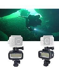 Fotga 40m Unterwasser Wasserdichte Tauchen Video LED Nacht Licht für GoPro Hero 3 4 Camera