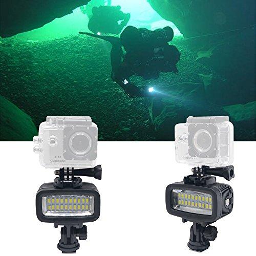 Fotga 40m Unterwasser Wasserdichte Tauchen Video LED Nacht Licht für GoPro Hero 3 4 Camera (Tauchen Licht)