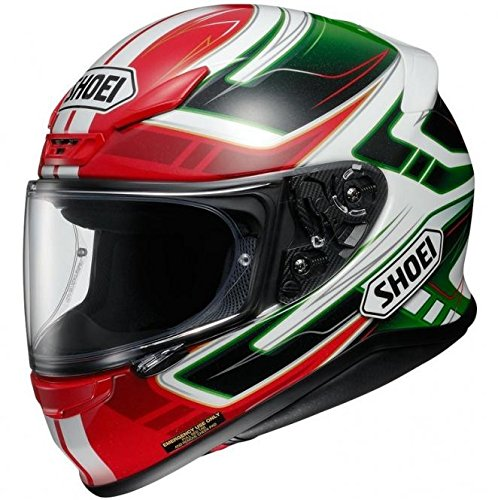 Shoei NXR Valkyrie Motorcycle Helmet M Red Green (TC-4)