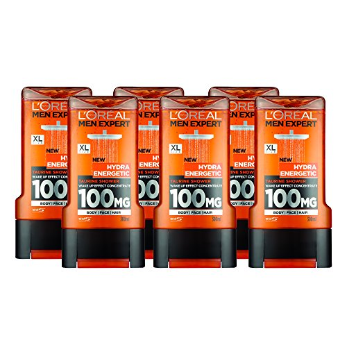 L'Oreal Men Expert Hydra Energetic Shower Gel 300ml Pack of 6
