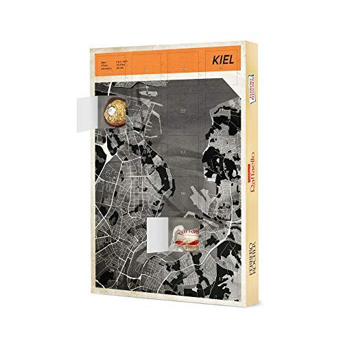 artboxONE Adventskalender mit Pralinen von Ferrero Stadtkarte Kiel Adventskalender Städte