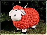 Dekofigur Schaf Christa in rot bunte Schafe Tier Figuren für Haus und Garten