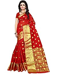 Indian Fashionista Women's Silk Saree With Blouse Piece (Nrpt1102D, Multicolor, Free Size)