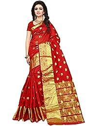Indian Fashionista Women's Silk Saree with Blouse Piece, Free Size (Nrpt1102D, Multicolour)