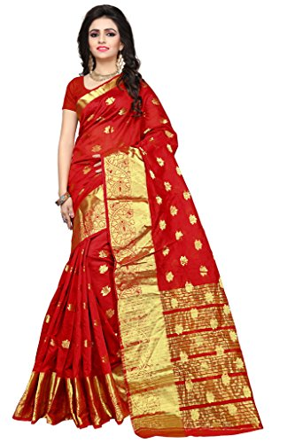 Indian Fashionista Women's Silk Saree with Blouse Piece, Free Size (Nrpt1102D, Multicolour)