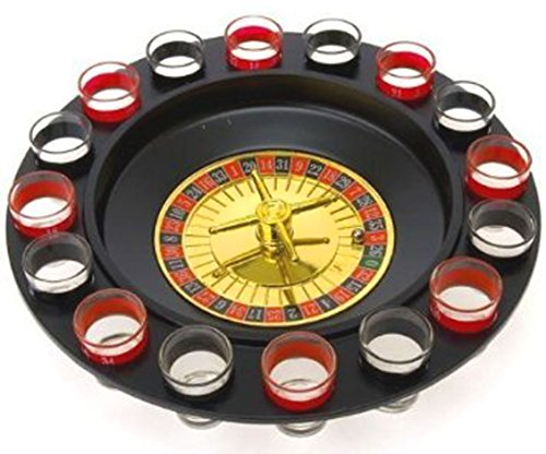 Drinking Game Glass Roulette - Drinking Game Set (2 Balls and 16 Glasses) Casino Style Drinking Game - By Bo Toys by Bo Toys