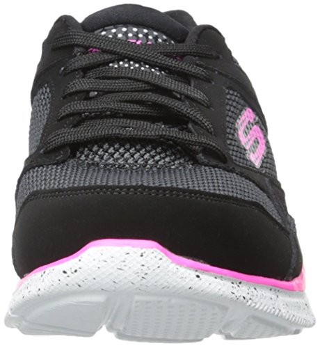 Skechers Equalizer New School, Fitness femme Noir (Noir/Rose)