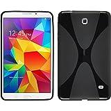 PhoneNatic Custodia Compatibile con Samsung Galaxy Tab 4 8.0 Cover Nero X-Style Galaxy Tab 4 8.0 in Silicone + Pellicola Protettiva