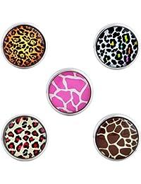 Morella señorías Click-Button Set 5 pcs pulsadores Animal patrón