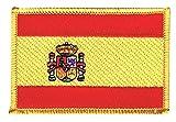 Flaggen Aufnäher Spanien Fahne Patch + gratis Aufkleber,