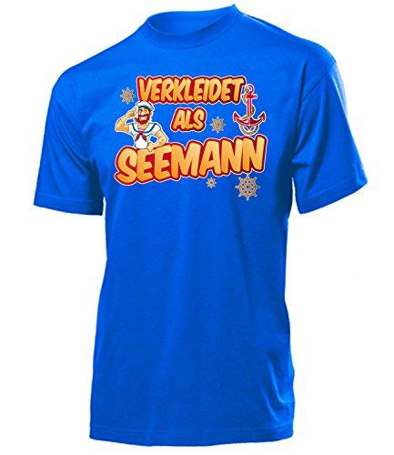 Marine Herren Seemann Kostüm - Seemann 2632 Karneval Fasching Kostüm Herren Männer Marine Outfit Klamotten Oberteil T-Shirt Karneval Faschings Karnevals Motto Party Blau S