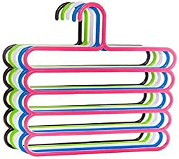 CLICKUS Plastic Multipurpose Hanger - 20x17x7cm, Assorted-Colour