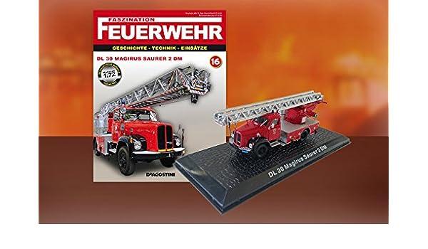 DL 30/Magirus Saurer 2/DM/ 72 /Cami/ón bomberos Feuerwehr bomberos Die Cast 1