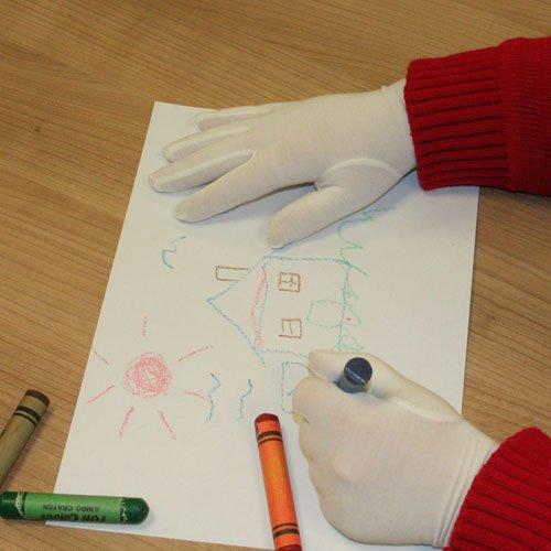 Granberg Ekzem-Handschuhe für Kinder, 1Paar, Gr. 3–4Yrs., weiß (Gartenarbeit Hand Creme)