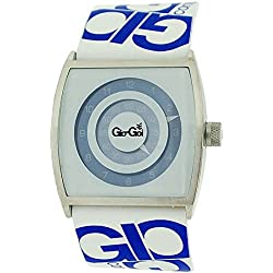 Gio-Goi Gents Live Who You Are Blue & White Dial & Leather Strap Casual Watch