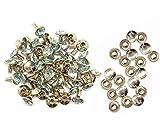 Weddecor 10x 8mm, Farbe: ab, Acryl mit Strass mit Zubehör für Rivet Nieten, Leder, zum Basteln, Designer-Gürtel, Kleidung, Taschen, Hunde-Halsbänder, metall, himmelblau, 50
