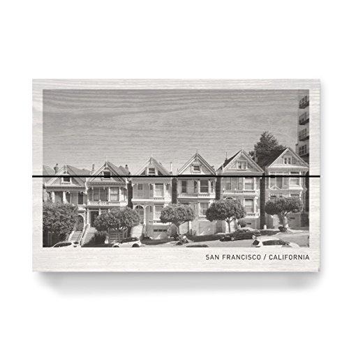 artboxONE Holzbild 30x20 cm Schwarzweiß