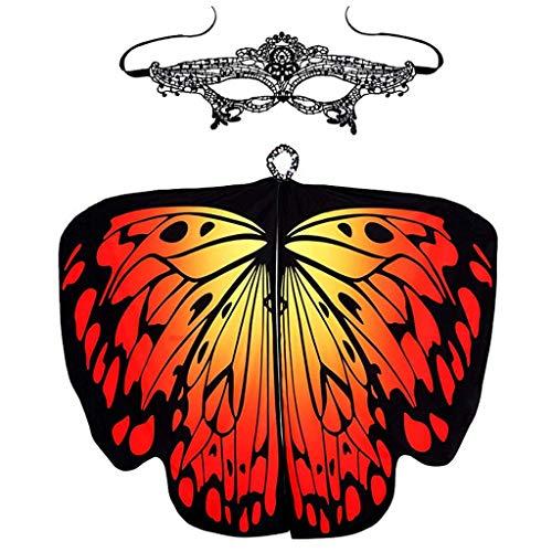 Kostüm Erwachsene Biber Für - Fenverk GroßE SchmetterlingsflüGel Damen Schmetterling KostüM Erwachsene FlüGel Poncho ZubehöR FüR Show Daily Party Fasching Weicher Gewebe Schal Nymphen Pixie Cosplay Zusatz(I 1,168 * 135CM)