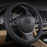 Pahajim Coprivolante per Auto Volante Fashion Pelle Microfibra 38cm Protezione Antiscivolo Traspirante per Auto nero bianco