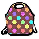 Best Rainbow ice pack - Rainbow Dots Printing Lunch Bags Insulated Zip Cooler Review
