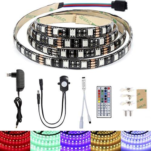 ABelle Bewegung Aktiviert LED Streifen Bett Licht Band RGB Automatische Ein / Aus 1.2M / 3.9ft 5050 SMD Sensor Nachtlicht für Kinderbett, Schrank, Sofa, Badezimmer