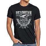 style3 Outa Time T-Shirt da Uomo Delorean Ritorno Futuro, Dimensione:3XL, Colore:Nero