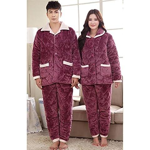 Coppie flanella di cotone per adulti Pajamas;