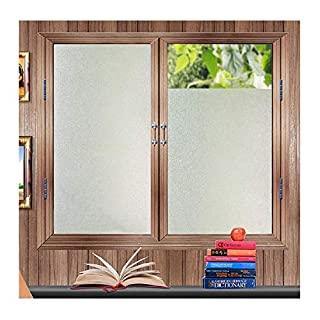 Zindoo Frosted Window Film Privacy Window Stickers Frosted Glass Film Bathroom Window Covering Anti-UV Films Self-Adhesive Vinyl Window Clings 45X200CM