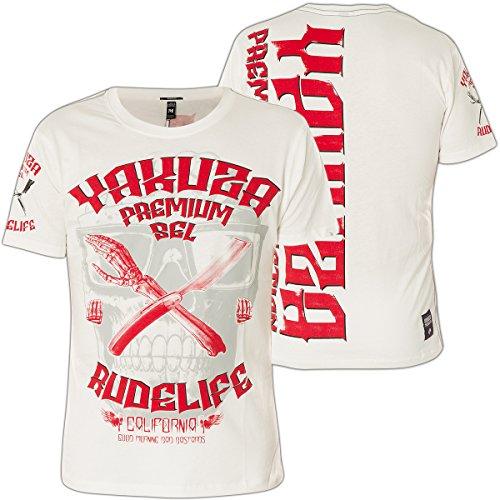 Yakuza Premium T-Shirt YPS-2310 Weiß Weiß