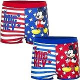 Mickey Maus Badehose, Baby Badehose, blau Oder rot, Größen 68, 70, 74, 80 Oder 86, für Kleine Mädchen (80, rot)
