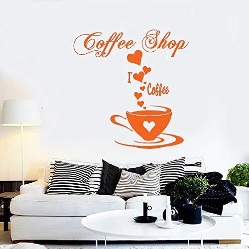 Kaffee Vinyl Wandaufkleber Abziehbilder Gute Kaffee Freunde Zitieren Tasse Tee Küche Wort Wandbild Raumgestaltung schlafzimmer Dekoration L 114 * 114 cm -