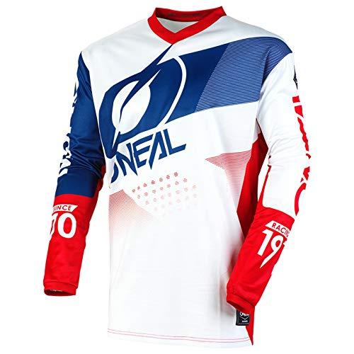 O'Neal Herren Motocross Jersey Element Factor, Weiß Blau, 2XL, E001 -