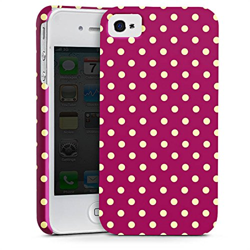 Apple iPhone X Silikon Hülle Case Schutzhülle Punkte Muster Polka Premium Case glänzend
