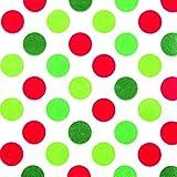 20 Servietten bunte Maxi-Punkte rot grün / gepunktet / Muster / zeitlos 33x33cm