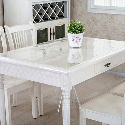 48 Zoll Breite Rechteckiger Tisch (GUOCAIRONG® Tischdecke PVC Thin Section Transparente Tischdecke Wasserdicht Ölsicher Nicht Waschen Plastikauflage Tischdecke , 100*160cm)