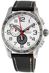 Victorinox Swiss Army - 241281 - Montre Homme - Quartz - Chronographe - Chronomètre-Alarme - Bracelet cuir noir