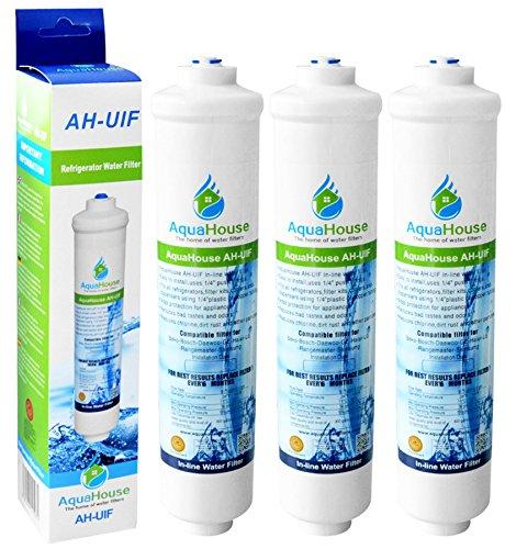 3x AquaHouse UIFUS Universal Inline Undersink Activated Filtre carbone eau Cartouche pour tout système de filtration d